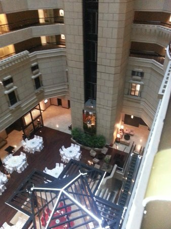 InterContinental Shanghai Pudong: The Atrium within the hotel core.. function facilities on 3rd level