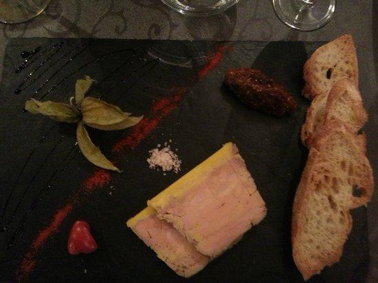 Restaurant Le 17 : entrée : foie gras maison