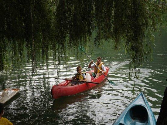Les Chalets de Fiolles : en canoë sur le Tarn