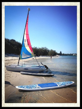 Golden Beach Hire: Catamaran and Paddleboard returned and ready to go out again