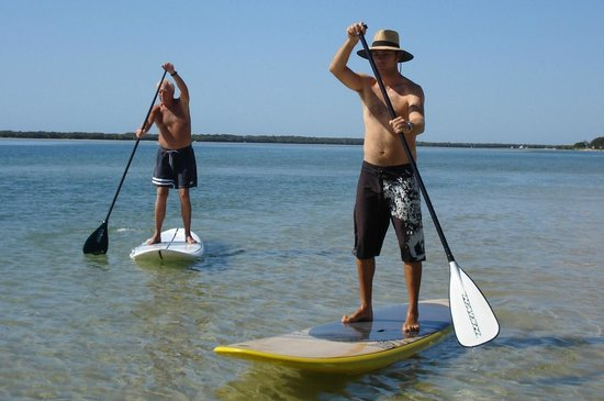 Golden Beach Hire: Anyone can try paddleboarding and gain the higher perspective