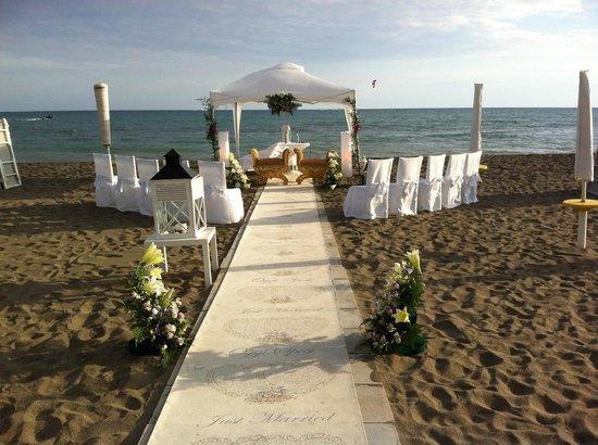Matrimonio In Spiaggia Ostia : Il rito sulla spiaggia foto di capitano achab lido