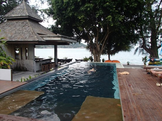 Samui Honey Cottages Beach Resort: Pool with a beach view