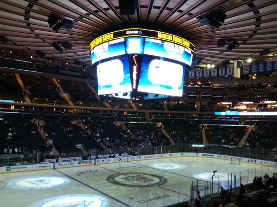 View From Section 104 Picture Of Madison Square Garden New York City Tripadvisor