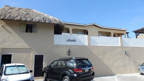 Amalia Boutique Hotel & Vacation Apartments: Gezien vanaf de parkeerplaats