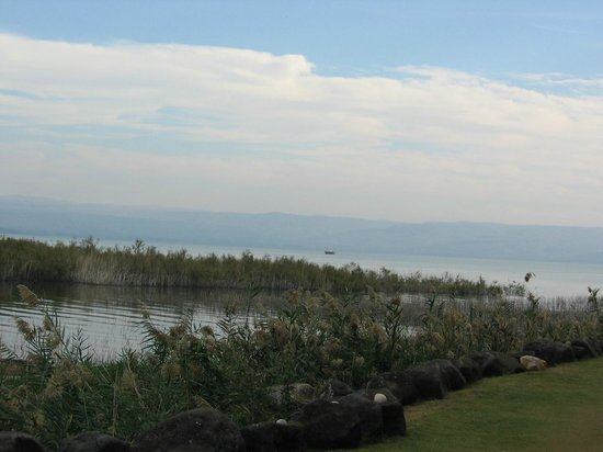 Nof Ginosar Hotel: View of Sea of Galilee from hotel grounds