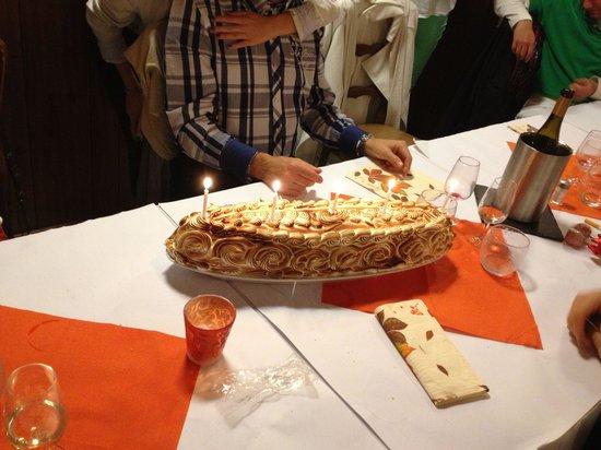 Chez Bernard: L'omelette norvégienne avec les bougies