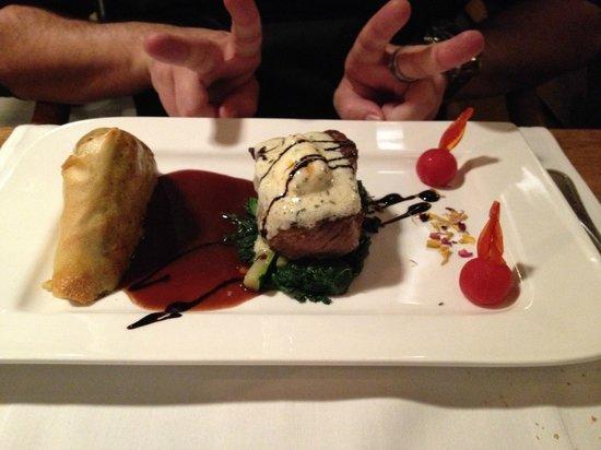 Chalet-Hotel Adler : Magnifique plat et viande succulente