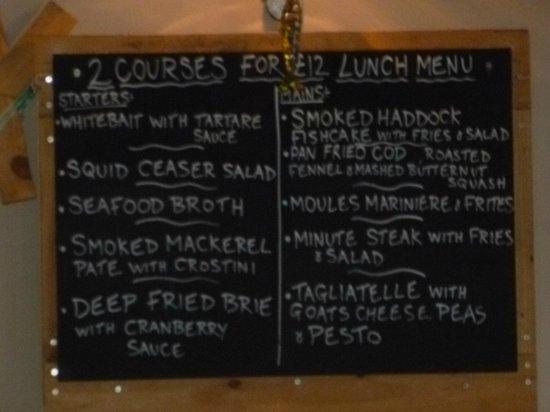 The Shack: Autumn lunch menu