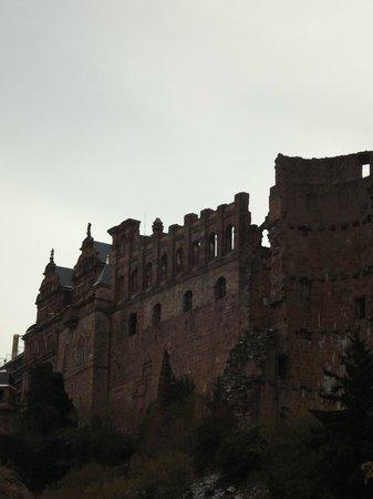 Hotel Am Schloss: CASTELO DE HIEDELBERG, VISTA DO QUARTO DO HOTEL