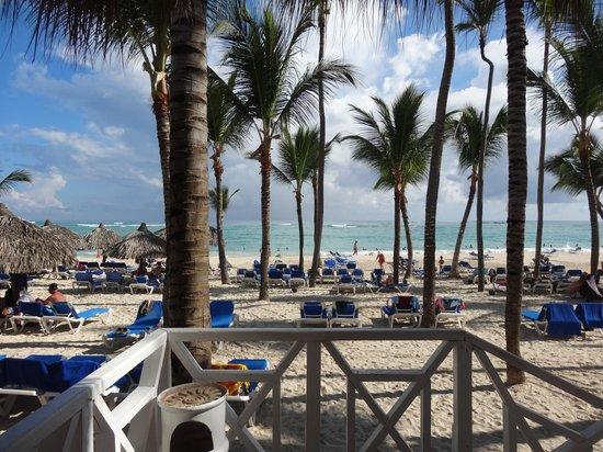 Grand Bahia Principe Bavaro : plage vue du restaurant
