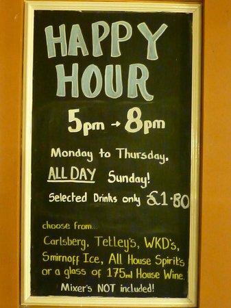 Britannia Airport Hotel: happy hour s