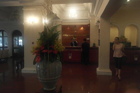 Hotel Continental Saigon : reception