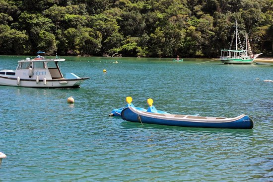 Asalem: Boats outside hotel.