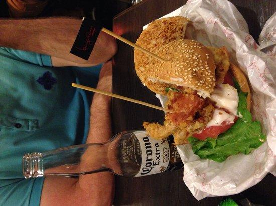 Burger Room: Soft shell crab burger