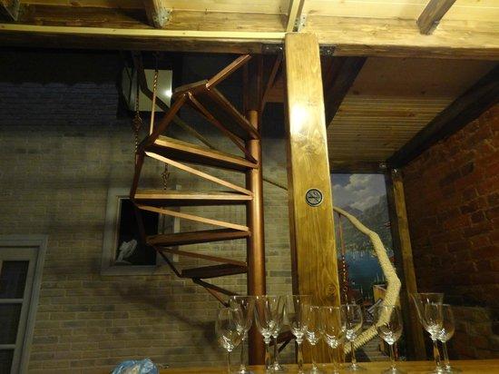 Mezzanine Hostel: лестница на крышу
