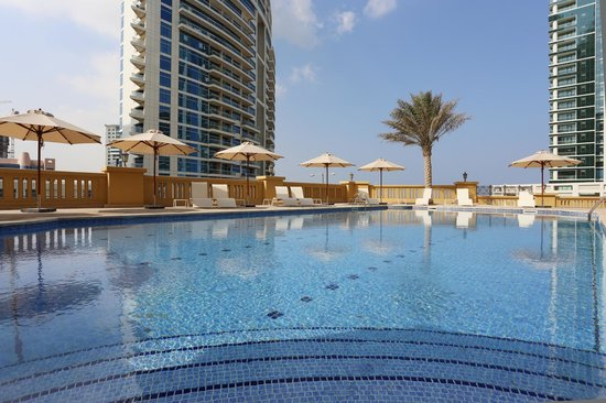 Out Door Swimming Pool Picture Of Hawthorn Suites By Wyndham Dubai Jbr Dubai Tripadvisor