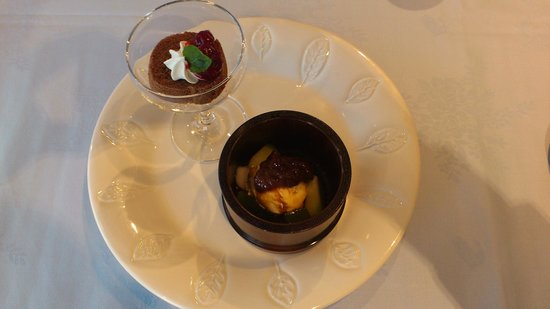 Nadaman Yokohama: 5デザート チョコレートケーキとマロンアイス