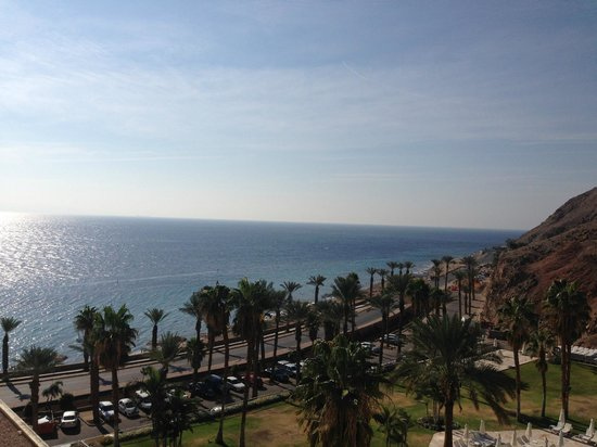 Eilat Princess Hotel : View from Room-sea