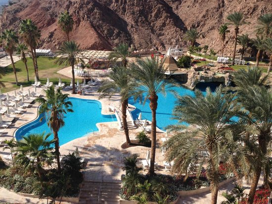 Eilat Princess Hotel : View from Room-pool