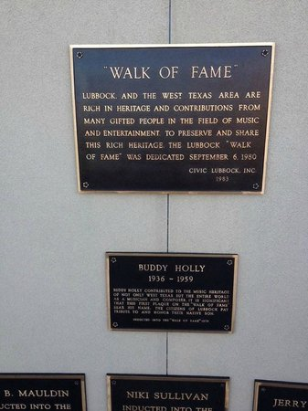 Buddy Holly Statue and West Texas Walk of Fame: Plaques at the Holly Statue, Lubbock