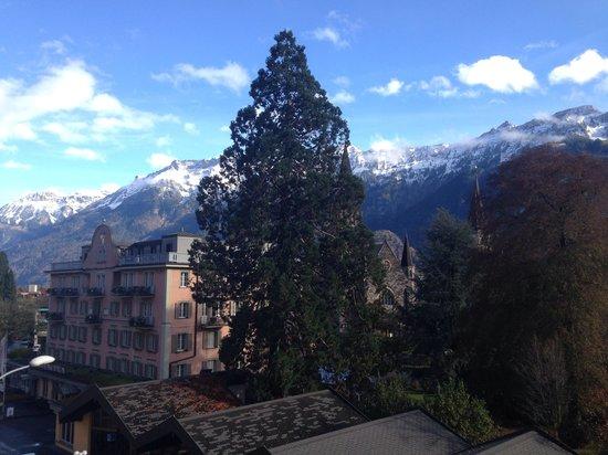 Hotel Royal St. Georges Interlaken - MGallery Collection : Vista da varanda do quarto.