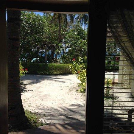 Bandos Maldives: Room 210 downstairs view