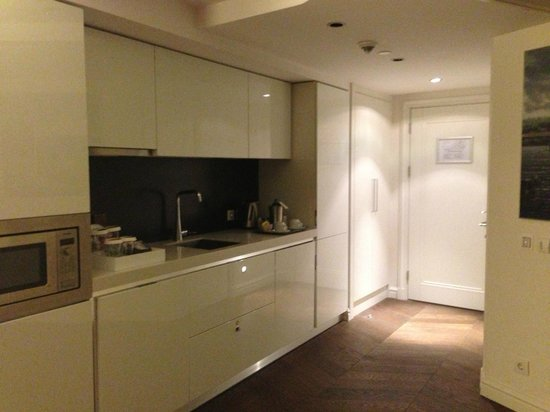 Rixos Taksim Istanbul: Kitchenette with Fridge, Sink, Cupboards, Dishwasher, (No Stove)...