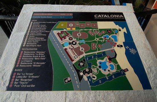 Catalonia Yucatan Beach: Grounds Map