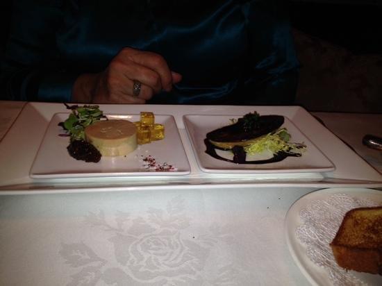 Inn at Little Washington: Hot and Cold Foie Gras