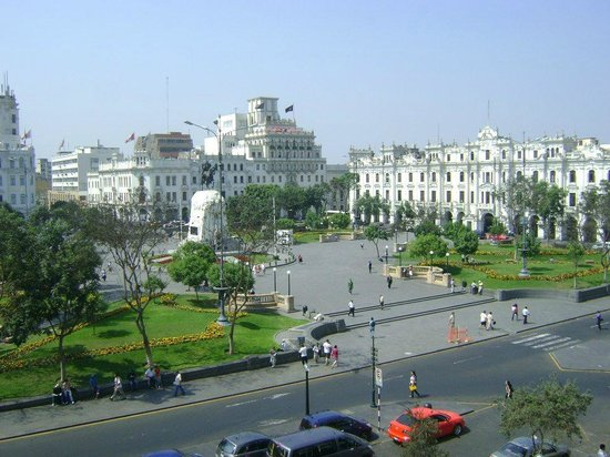 Gran Hotel Bolivar: Vista da Praça de San Martín.