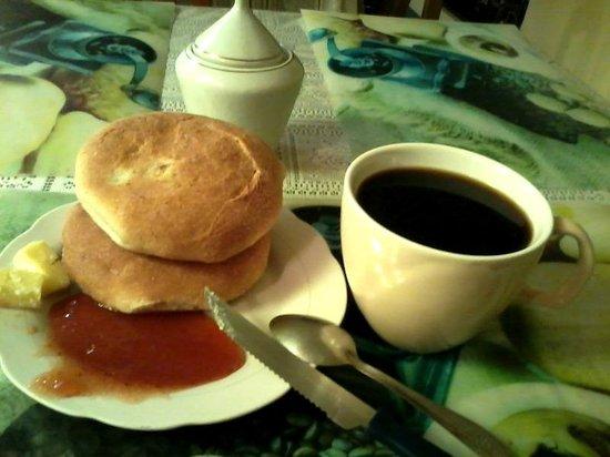 Hostal Compania de Jesus : café de manhã - padrão mínimo boliviano