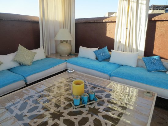Riad Chocolat: Relaxing roof-terrace