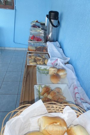 Joab's House: Frühstücksbuffet (achtung: wir waren die zwei einzigen Gäste!!!)
