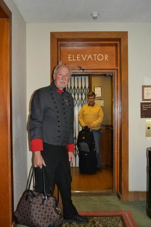 The Omni Grove Park Inn: The elevator operator in the old section