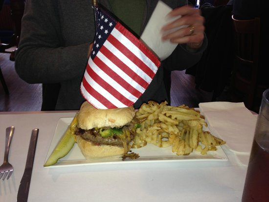 Blue & Gray Bar & Grill : One if their signature burgers