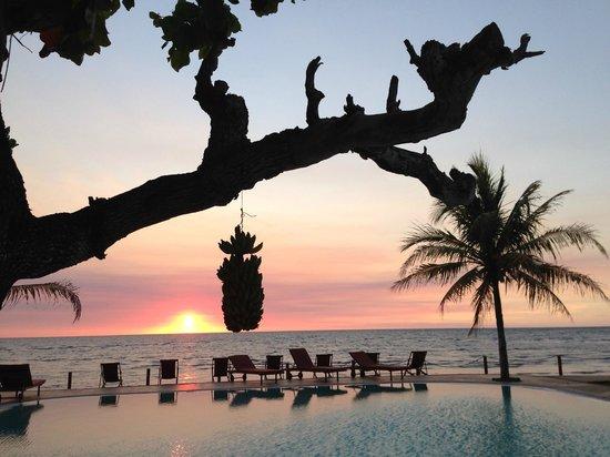 Hotel Arc en Ciel: coucher de soleil