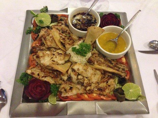 Royal Decameron Complex: Mahi Mahi prepared by Chef Kiki