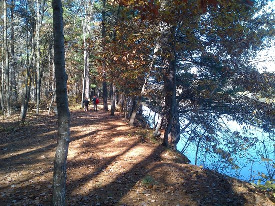 William O'Brien State Park: Path along St Croix River Fall 2013
