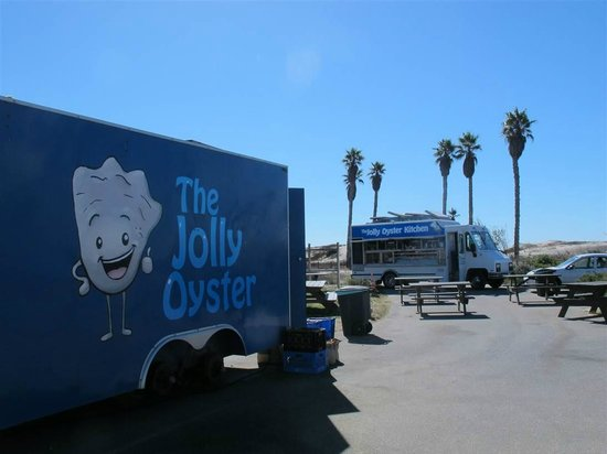 The Jolly Oyster: one truck for buying by the pound, another to order prepared food