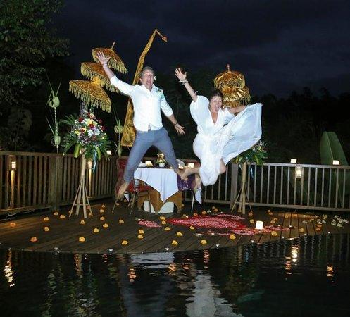 Nandini Bali Jungle Resort & Spa: So happy to be married!