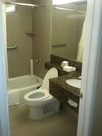 Eldorado Inn & Suites: the nice clean restroom