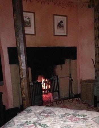 Bailiffscourt Hotel : Our cosy fire