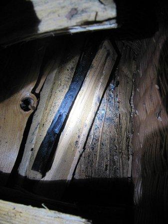 Ferienart Resort & Spa: Buchette calcinée dans le panier à bois