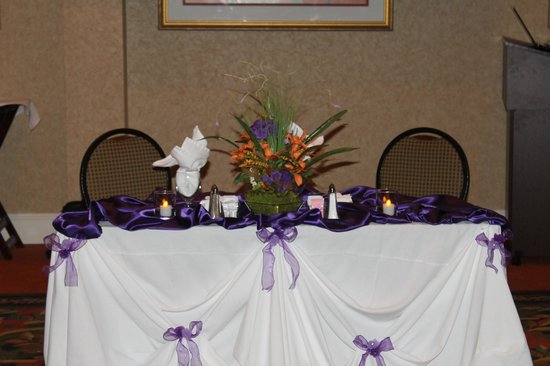 Hilton Garden Inn Florence: The head table