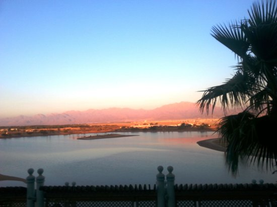 Herods Boutique: the sunset of the blue laguna frome he balcon