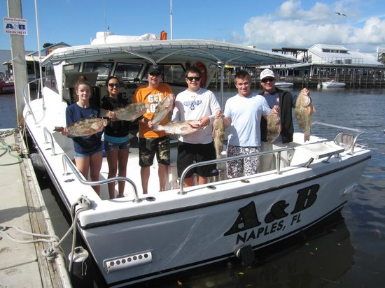 Grouper picture of a b fishing charters naples for Deep sea fishing naples fl