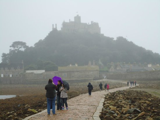St. Michael's Mount: rainy day at St Michael's Mount