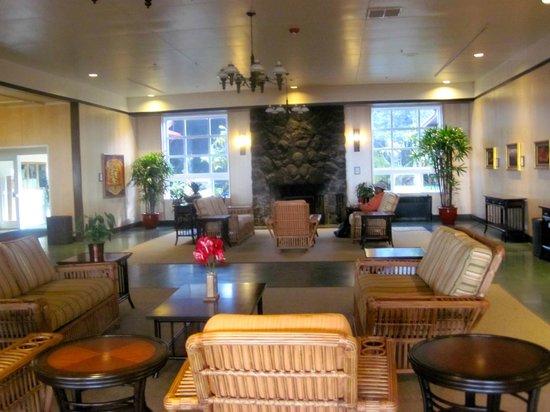 Lobby at The Volcano House