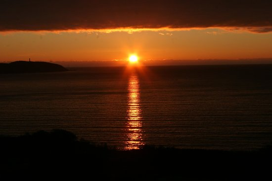 The Carlyon Bay: sun rise today from our room
